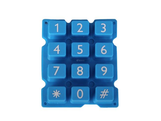 儿童电话机硅胶按键导电胶电子橡胶数字按钮